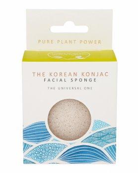 Спонж для особи Konjac sponge з конжака 100% білий Стихія води
