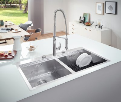 Кухонна мийка GROHE Sink K800 1024x560 31585SD0 сатин