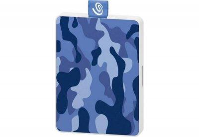 Накопичувач зовнішній SSD USB 500GB Seagate One Touch Camo Blue (STJE500406)
