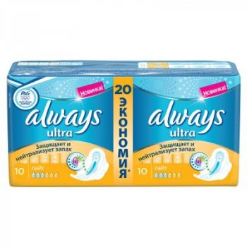 Гигиенические прокладки Always Ultra Light 20 шт (4015400006770)