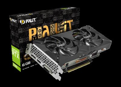 Відеокарта Palit GeForce RTX 2060 Dual OC 6Gb DDR6 192-bit DVI/HDMI/DP 1725/14000 MHz 8-pin (NE62060S18J9-1160A)