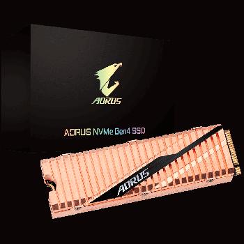 Твердотільний накопичувач M. 2 Gigabyte AORUS Gen4 1Tb PCI-E 4x 4.0 3D TLC 5000/4400 MB/s (GP-ASM2NE6100TTTD)