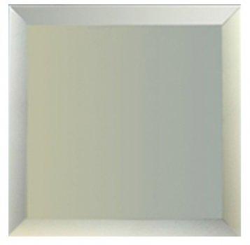 Зеркальная плитка UMT 400х400 мм фацет 15 мм серебро (ПФС 400-400)