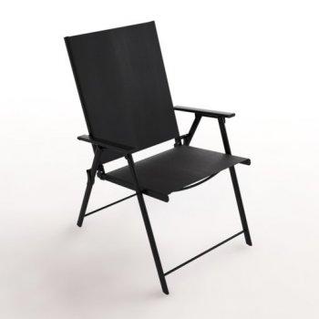 Стул раскладной UBC Promo Franko OM038 56.5х67.5х89.5 см черный (11828936)