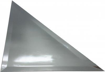 Зеркальная плитка UMT треугольная 300х300 мм фацет 15 мм серебро (ПТС 300-300)