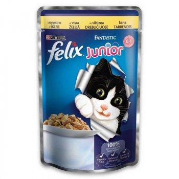 Влажный корм для котят Felix Fantastic Junior с курицей в желе 20 шт(упаковка) (320104up)