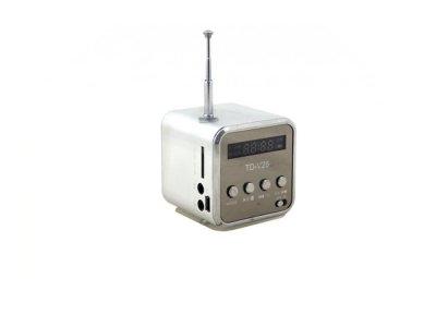 Портативная колонка Digital TD-V26 c Fm-радио/micro SD/TF/ USB Серый (1001-276-05)