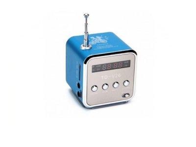 Портативная колонка Digital TD-V26 c Fm-радио/micro SD/TF/ USB Синий (1001-276-04)
