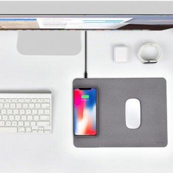 Ігрова поверхня COTEetCI Wireless Charger And Mouse Pad Grey (CS5186-GY) з бездротовою зарядкою QI