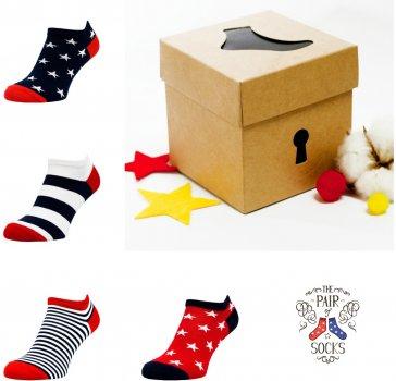 Набір шкарпеток The Pair of Socks 4120 Star Box Mini Small 4 пари Різнобарвний