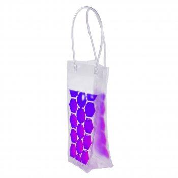 Пакет со льдом для охлаждения напитков фиолетовый (НО)