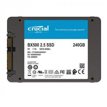 Твердотільний накопичувач 240Gb Crucial BX500 SATA3 2.5' 3D TLC (CT240BX500SSD1)
