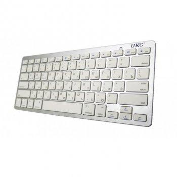 Беспроводная клавиатура UKC X5 с русскими буквами подключение по Bluetooth Белая (10523)
