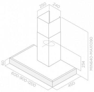 Вытяжка Elica SPOT PLUS IX/A/120 Нержавеющая сталь