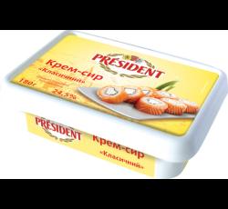 Крем-сир ПРЕЗИДЕНТ 24,5% класичний 180г