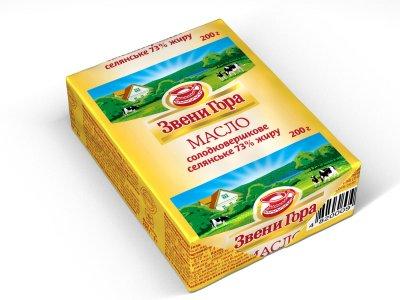 Масло солодковершкове Звени Гора селянське 73% жиру 200г