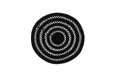 Килим Sitap Alyssa black 1A (84937) (Ø120 див.)