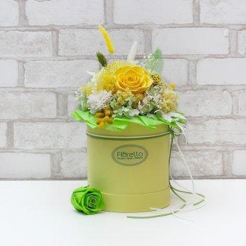 """Букет из стабилизированных живых цветов Floretta """"Под солнцем Тосканы"""", неувядающий более 3 лет, размер XL"""
