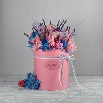 """Букет из стабилизированных живых цветов Floretta """"Очарование Прованса"""", неувядающий более 3 лет, размер XL"""