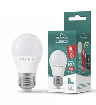 Лампа LED Titanum G45 6W 4100K E27 220V (11671702)