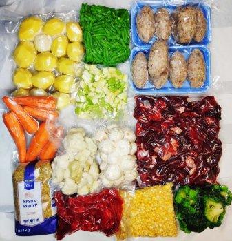 """Продуктовий набір """"Сітій"""" (овочі 5,5 кг та яловичина 2,5 кг)"""