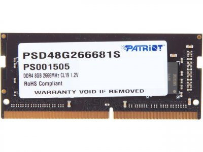 Оперативна пам'ять Patriot DDR4 SL 8GB 2666 MHz CL19 SODIMM (PSD48G266681S)