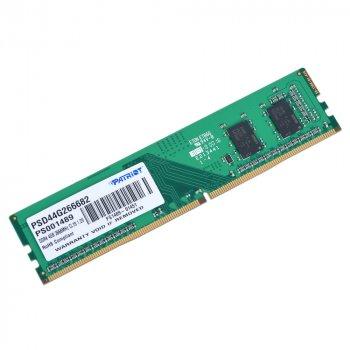Оперативна пам'ять Patriot DDR4 SL 4GB 2666 MHz CL19 DIMM (PSD44G266682)