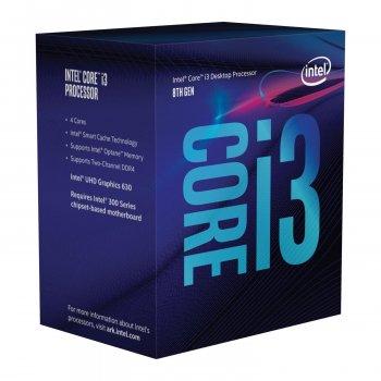 Процесор Intel Core i3-8100 3.6 ГГц Socket 1151 BOX (BX80684I38100)