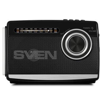 Портативный радиоприёмник SVEN SRP-535 (black) 3Вт, Li-Ion аккумулятор, USB, microSD,FM (23594)