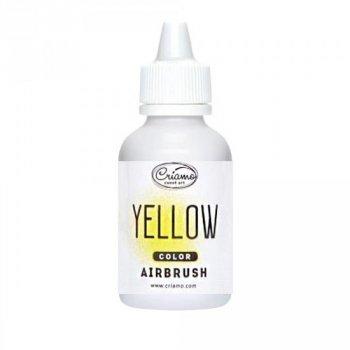 Краситель пищевой для аэрографа Criamo Желтый (Yellow), 60 г