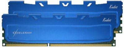 Оперативна пам'ять Exceleram DDR3-1600 16384MB PC3-12800 (Kit of 2x8192) Blue Kudos (EKBLUE3161611AD)