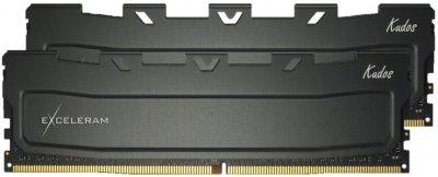Оперативна пам'ять Exceleram DDR4-3000 16384MB PC4-24000 (Kit of 2x8192) Black Kudos (EKBLACK4163016AD)