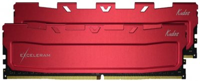 Оперативная память Exceleram DDR4-3600 16384MB PC4-28800 (Kit of 2x8192) Red Kudos (EKRED4163618AD)
