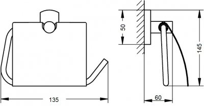 Тримач для туалетного паперу QTAP Liberty CRM 1151