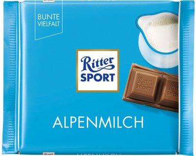 Шоколад Ritter Sport молочный с альпийским молоком 100 г (4000417018007)