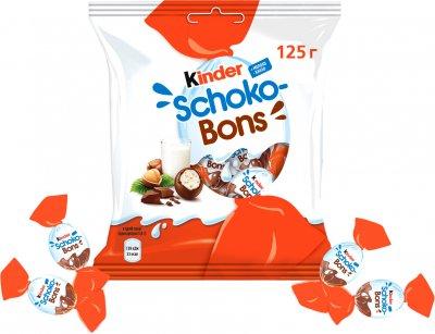 Конфеты Kinder Schoko-Bons из молочного шоколада с молочно-ореховой начинкой 125 г (5413548280189)