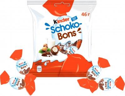 Конфеты Kinder Schoko-Bons из молочного шоколада с молочно-ореховой начинкой 46 г (4008400284620)