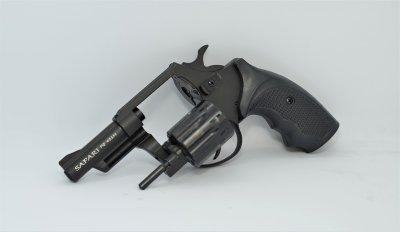 Револьвер під патрон Флобера Safari RF-431 cal. 4 мм пластикова рукоятка, BLACK CERAKOTE