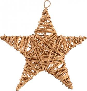 Ялинкова іграшка Новогодько (YES! Fun) Зірка 15 см Золотиста (973302) (5056137144327)