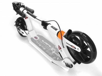 Двоколісний Самокат Best Scooter з двома Амортизатороми Складаний Алюміній Колір Білий
