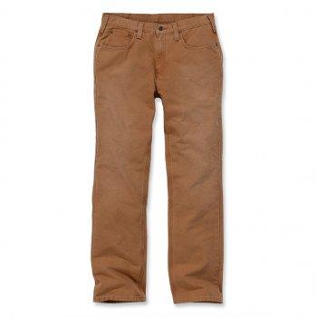 Штаны Carhartt Weathered Duck 5 Pocket Pant - 100096 Carhartt Brown