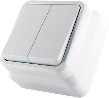 2-клавишный выключатель Erste electric Country Белый (8005-02,W)