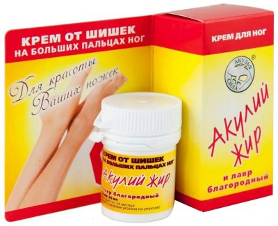 Крем для ног Лучикс Акулий жир и лавр благородный ШишкаStop 20 мл (4607010245153)