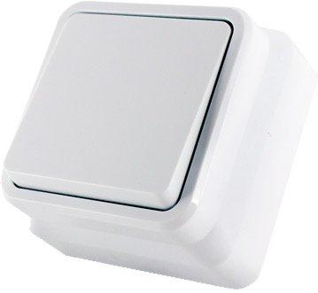 1-клавишный проходной выключатель Erste electric Country Белый (8005-31,W)