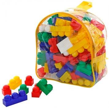 Конструктор Polesie (Полесье) Юниор 100 элементов в желтом рюкзаке (4810344033321-2) (3321-2)
