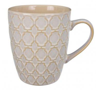 Чашка La Cucina с узором 350 мл Бежевая (Q76000200_monogram)