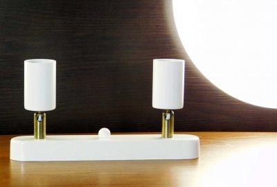 Спот поворотный на 2-лампы SLEEVE-2 E27 белый