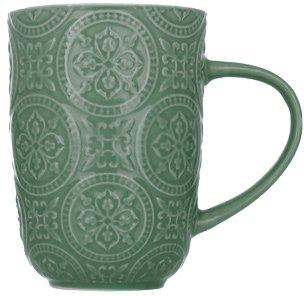 Чашка Limited Edition Pattern 410 мл Темно-зелена (18478G)