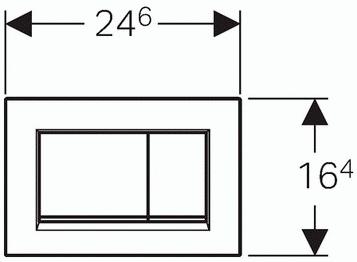 Панель смыва GEBERIT Sigma 30 черный/хром глянцевый/черный 115.883.KM.1