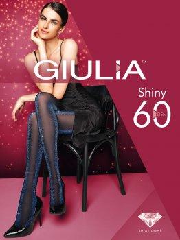 Колготки Giulia Shiny 60 Den Shiny turqoise metalic